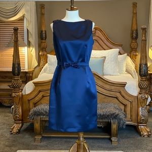 Bari Jay Navy Satin Open Back Dress Size 9-10